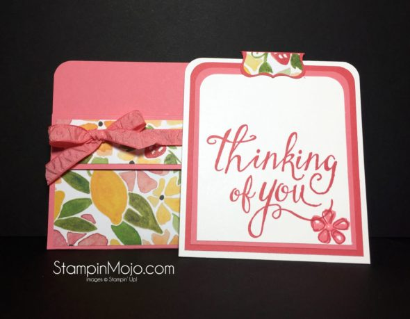 Stampin Up, Fruit Stand DSP, Time of Year, Gift card - Michelle Gleeson, SU