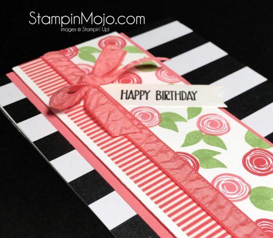 Stampin Up Pop of Pink DSP Swirly Bird Stamp Set Birthday card Michelle Gleeson Stampinup SU