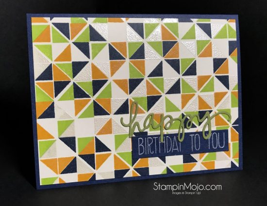 Concord&9th Triangle Turnabout Birthday card ideas Michelle Gleeson StampinMojo