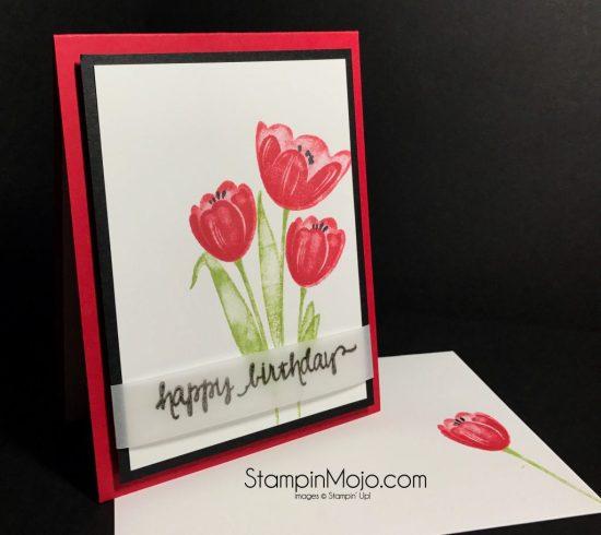 Stampin Up Tranquil Tulips Birthday card Michelle Gleeson StampinMojo Stampinup SU