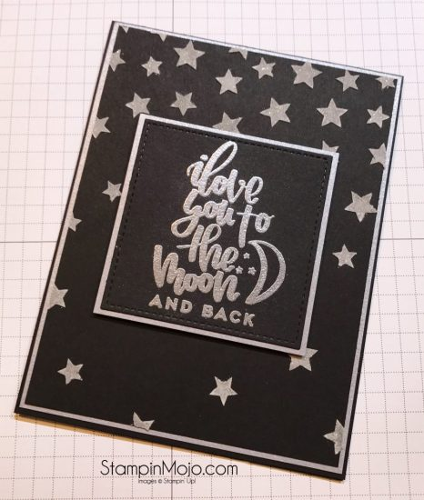Stampin Up Embossing Paste Silver Wink of Stella Mommy Lhey Designs Hello 2016 love card idea Michelle Gleeson StampinMojo