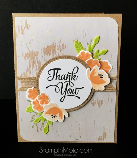 Stampin Up JAr of Love Wood Textures DSP One Big Meaning Thank You card idea TTTC005 Michelle Gleeson Stampinup SU
