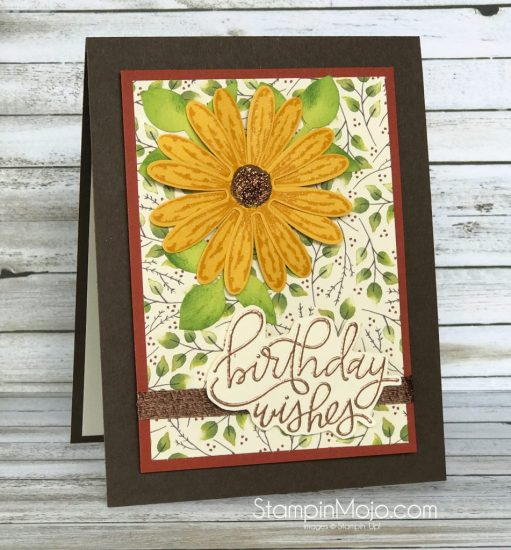 Stampin Up Daisy Delight Painted Autumn DSP MTF Handwritten Happiness Birhtday card idea Mcihelle Gleeson Stampinup SU