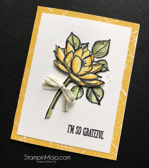 Stampin Up Remarkable You Inkbig Blog Hop Color Theory DSP Thank you card idea Michelle Gleeson Stampinup SU