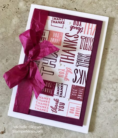 Concord&9th Many Thanks Turnabout Thank You card idea Michelle Gleeson