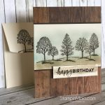 Lovely as a Tree Masculine Birthday Card
