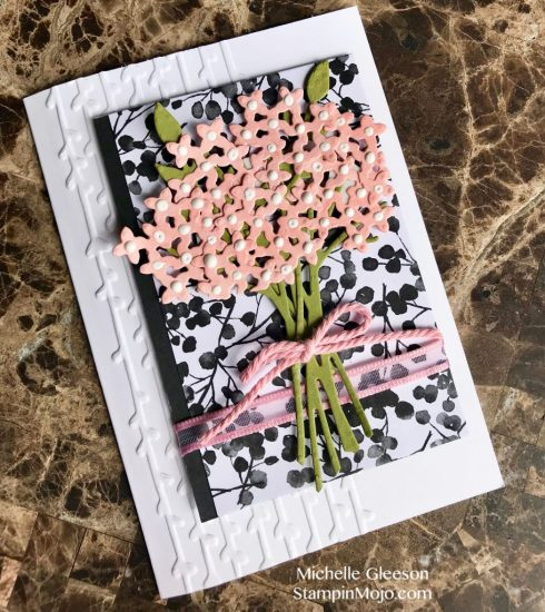 Stampin Up Petal Passion DSP Beautfiul Bouquet Bundle Anytime card Michelle Gleeson Stampinup SU