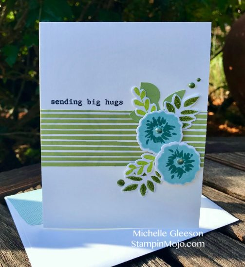 StampinMojo Michelle Gleeson Thinking of You card idea