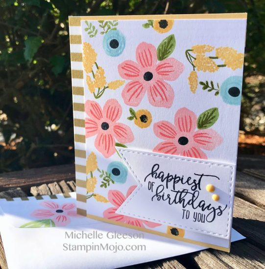 WPlus9 Southern Floral 2 Stampin Up Picture Perfect Birthday Birthday Card Idea Michelle Gleeson StampinMojo