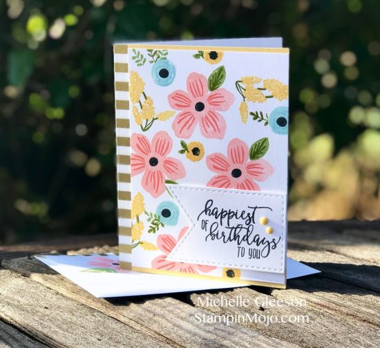 WPlus9 Southern Floral 2 Stampin Up Picture Perfect Birthday Birthday Card Michelle Gleeson StampinMojo