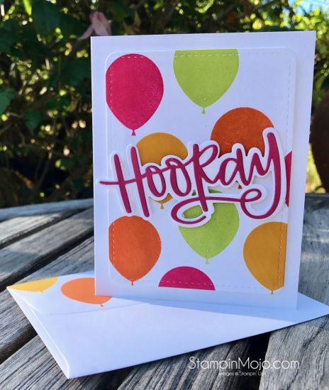 Stampin Up Balloon Celebration Birthday card Michelle Gleeson Stampinup SU