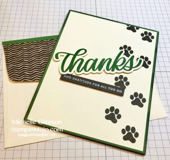 SU D is for Dog, SSS Big Thanks Words, StampinMojo Thank you card ideas Michelle Gleeson