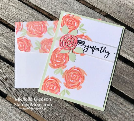 Stampin Up Abstract Impressions Bundle Sympathy Card idea Michelle Gleeson Stampinup SU