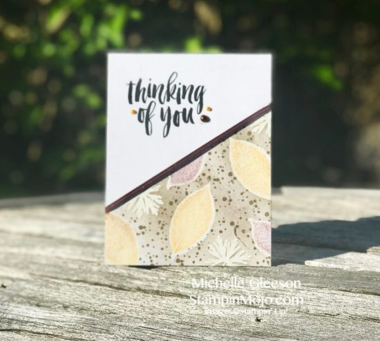 Stampin Up Rooted in Nature GDP#140 Thinking of You card Michelle Gleeson Stampinup SU