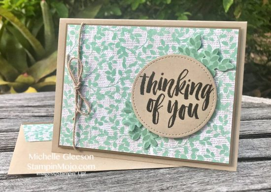 Stampin Up Rooted in Nature Suite Thinking of you card idea Michelle Gleeson Stampinup SU