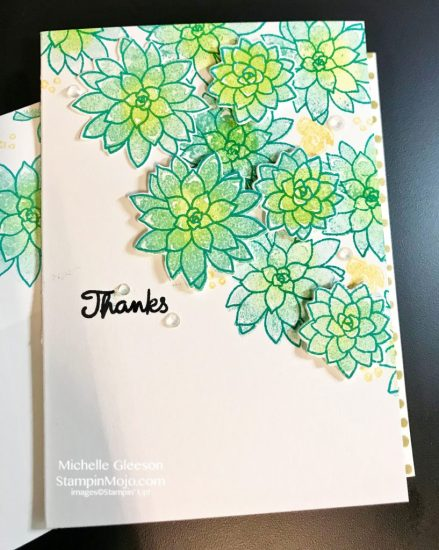 Stampin Up So Succulent Thank you card ideas Michelle Gleeson Stampinup SU