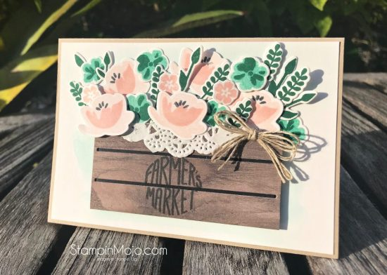 Stampin Up Jar of Love Bundle Wood Crate Framelits Inspire Crete Challenge #022 GDP#147 Anytime card Michelle Gleeson Stampinup SU