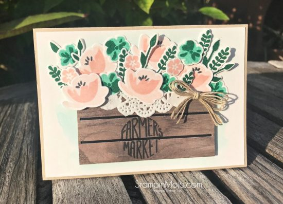Stampin Up Jar of Love Bundle Wood Crate Framelits Inspire Crete Challenge #022 GDP#147 Anytime card idea Michelle Gleeson Stampinup SU