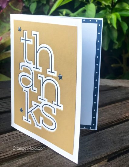 Concord and 9th Big Thanks Stamp and die Masculine Thank you cards Michelle Gleeson C9