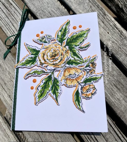 The Greetery Sketched Roses Michelle Gleeson One Layer card