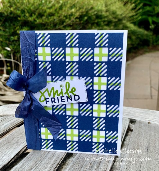 Stampin Up Best Plaid Builder C9 Dahlia Anytime Card Ideas Michelle Gleeson Stampinup SU