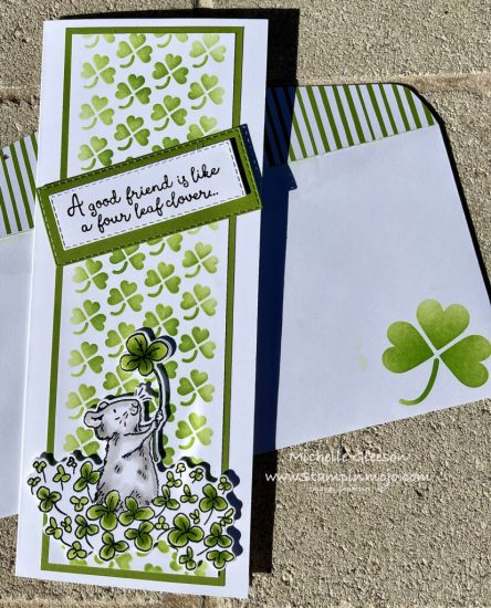 Colorado Craft Company 4 Leaf Clover Friendship Cards Michelle Gleeson The Spot Challenge #151