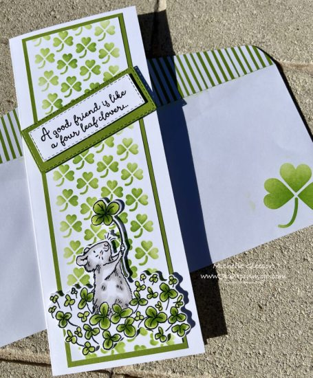 Colorado Craft Company 4 Leaf Clover Friendship Cards Idea Michelle Gleeson The Spot Challenge #151