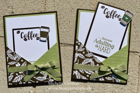 Coffee Lovers Cards Michelle Gleeson Tutorial Design by Jeanie Stark