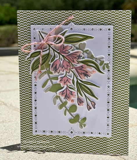 The Greetery Summer Sketches SU Old Olive DSP Anytime card idea Michelle Gleeson