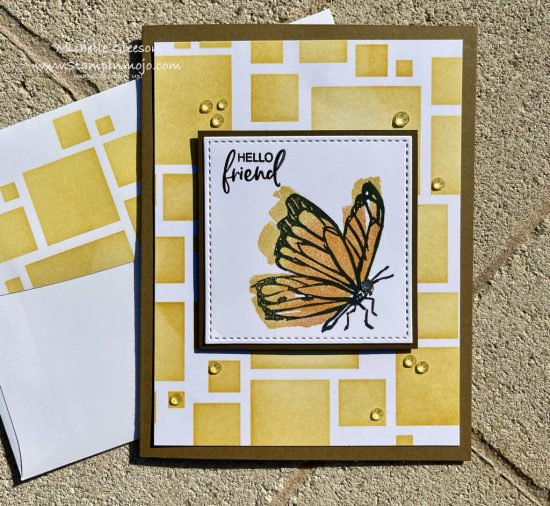 Stampin Up Touch of Ink SSS Stencil background Anytime card Michelle Gleeson Stampinup SU