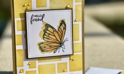 Stampin Up Touch of Ink SSS Stencil background Anytime card idea Michelle Gleeson Stampinup SU