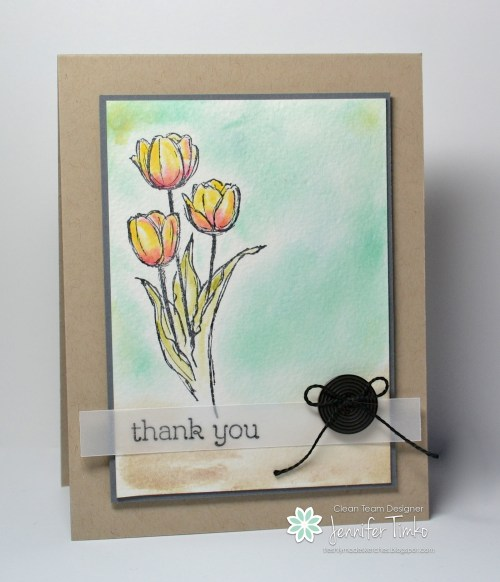 FMS128 - Watercolor Tulips