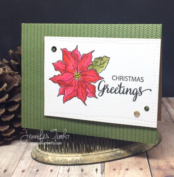Jen Timko - CC63 - Poinsettia Greetings