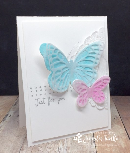 Jen Timko - FMS272 | Stampin' Up Bold Butterflies Dies, Butterflies Dies, Watercolor Wings Stamp Set