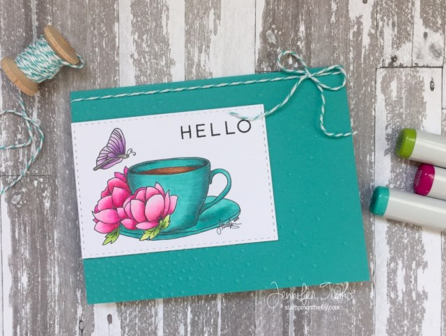 Spring Hello by Jen Timko | Spring CLBH Digital Stamp by JessicaLynn Original, Copic Coloring