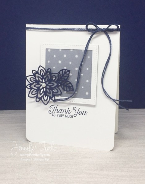FF Mar Flourish Stepped Up by Jen Timko | Flourishing Phrases and Flourish Thinlits by Stampin' Up, Floral Boutique DSP, Stitched Shapes, Vellum