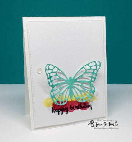 FMS286 by Jen Timko | Butterflies Thinlets by Stampin' Up, Watercolor