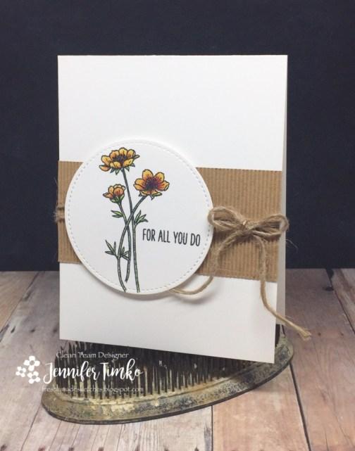 FMS304 by Jen Timko | Vibrant Thanks Stamp by Power Poppy, Chameleon Pens, Chameleon Color Tops