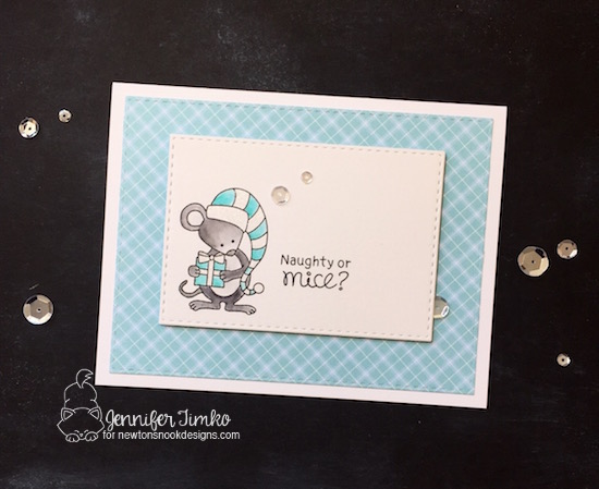 Naughty or Mice by Jen Timko | Naughty or Mice Stamp Set by Newton's Nook Designs, Zig Clean Color Pens, Wink of Stella