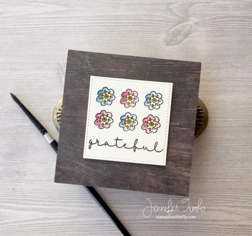 Grateful by Jen Timko | Thank You for Everything Stamp by Joy Clair, MISTI by My Sweet Petunia