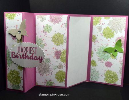 Stampin' Up! Five Panel Card by Demo Pamela Sadler, See more at stampinkpinkrose.com #stampinpinkrose#etsycardstrulyftheart