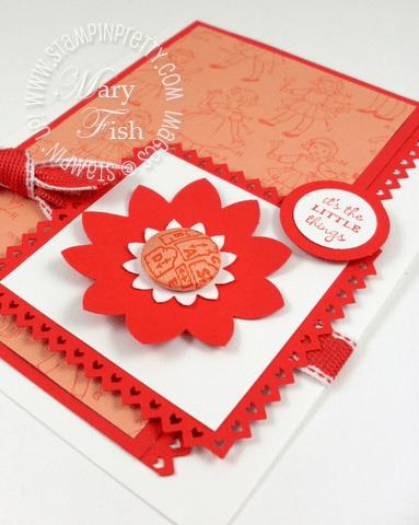 Stampin up sweet stitches fabric designer brads