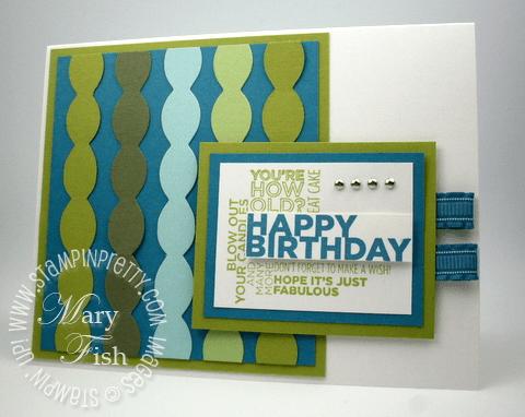 Stampin up big shot tasteful trim die delightful dozen rubber stamp blog card idea