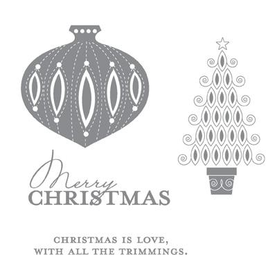 Contempo christmas rubber stamps stampin up