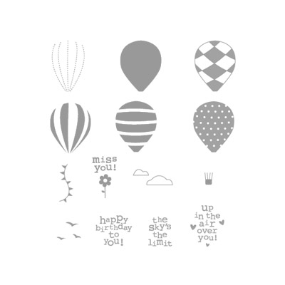 Up up & away rubber stamps stampin up