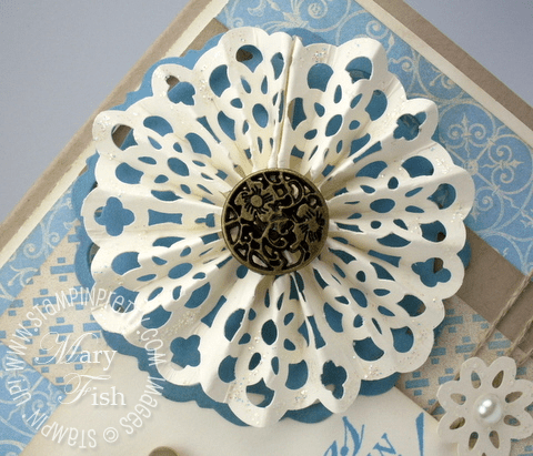 Stampin up lace border punch snowflake demonstrator video tutorial blue