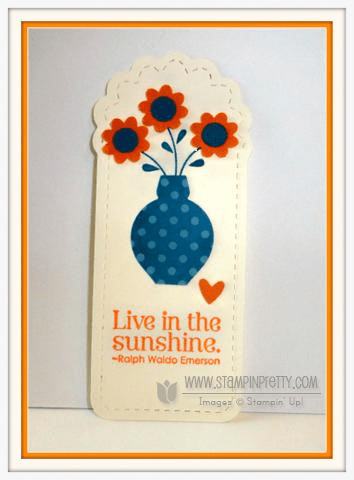 Stampin up stampinup demonstrator bookmark gift punch idea