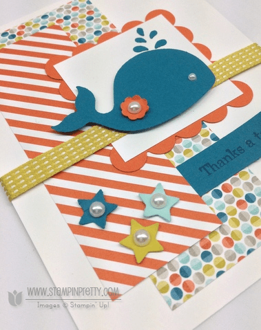 Stampin up stampinup pretty oh whale spring catalogs card idea punch order online