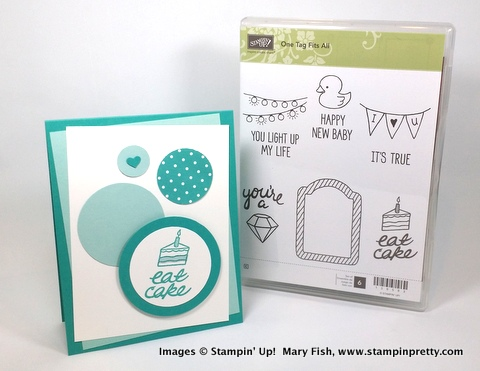 Stampin' up! stampin up stamping stampinup pretty mary fish one tag fits all