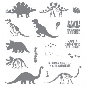 No Bones About It Dinosaur Stampin' Up! Catalog Favorites by Mary Fish, Stampin' Pretty Blog